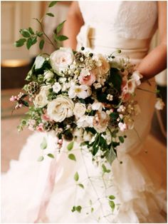 Dreamy white and pink bouquet | Sinclair &  Moore