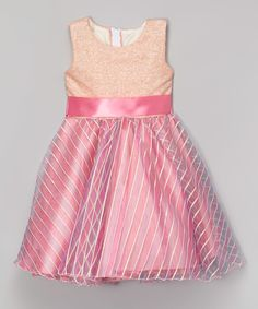 Look at this #zulilyfind! Pink Sequin A-Line Dress - Infant, Toddler & Girls by Kid Fashion #zulilyfinds
