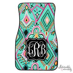Personalized Lilly Pulitzer Inspired Car Mats on Etsy, $32.95