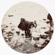 Girl looking in a rock pool, c.1890, National Media Museum Collection / SSPL