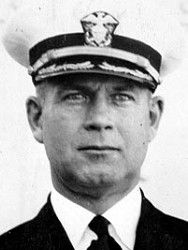 Rear Admiral Isaac C. Kidd, US Navy Medal of Honor recipient USS Arizona (BB-39) attack on Pearl Harbor, World War II December 7, 1941. USS Kidd (DDG-100) is named in his honor.