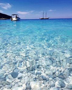 Look at these clear waters in Ithaca, Greece! : Look at these clear waters in Ithaca, Greece! Dream Vacations, Vacation Spots, Vacation Days, Places To Travel, Places To See, Travel Destinations, Wonderful Places, Beautiful Places, Ithaca Greece