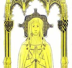 Eleanor de Bohun, Duchess of Gloucester. Mother of Anne Plantagenet. Buried at Westminster Abbey.