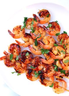 Grilled Apricot Curry Glazed Shrimps