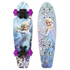 """Disney Frozen Kids 21"""" Complete Skateboard, Frozen Heart"""