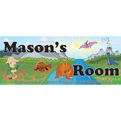 Mona Melisa Designs Dino Boy Name Wall Decal Skin Shade: Light, Eye Color: Blue, Hair Color: Black