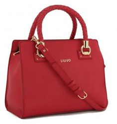 !!!Liu Jo Satchel Manhattan red geflochtene Henkel rot Gold Liu Jo, Manhattan, Fashion, Dime Bags, Artificial Leather, Moda, La Mode, Fasion, Fashion Models