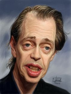 Caricature of actor Steve Buscemi.  Why does he remind me of Don Knotts in this picture?