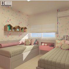 Em especial ao dia das crianças vou separar algumas fotos de quartos pra vocês! A começar por esse lindo por Daniel Kroth Arquitetura   @decoreinteriores. Meu insta: @lorefelima