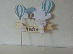 Topper cake Balloon - Topo de bolo balão