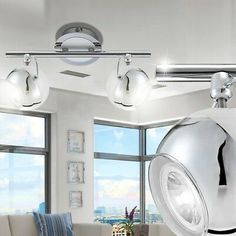 Design LED 10 Watt Wand Leuchte Ess Zimmer Decken Strahler Spot Leiste beweglich