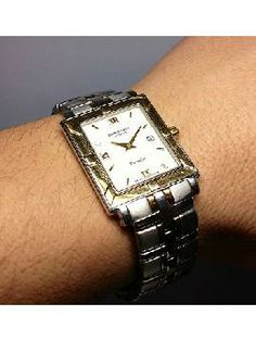 Vintage Raymond Weil Ladies Watches | ... Raymond Weil Parsifal Stainless Steel & 18KT Man's Rectangular Watch Raymond Weil, Ladies Watches, Square Watch, Jewelery, Stainless Steel, Lady, Accessories, Vintage, Fashion
