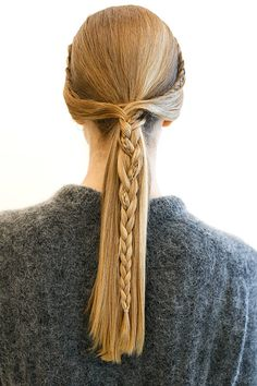 Runway How-To: Rachel Zoe's Braided Pony 2015 Hairstyles, Fancy Hairstyles, Braided Hairstyles, Casual Hairstyles, Braided Ponytail, Medium Hair Styles, Curly Hair Styles, Small Braids, Kate Middleton Style