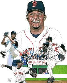 Pedro Martinez of the Boston Red Sox by Neal Portnoy.