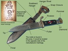 picture of a nazi youths knife Price Guide, Military History, Wwii, Mysterious, Childhood Memories, Knives, Guns, Germany, Army