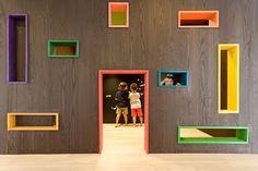 KK Kindergarten and Nursery Kindergarten Interior, Kindergarten Design, Kids Cafe, Shop Facade, Bureau Design, Room Planning, Modern Landscaping, Kids Corner, Architect Design