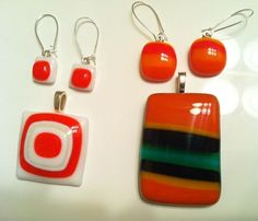 Fused glass jewelry by Miss Olivia's Line - additional items are posted at http://facebook.com/missoliviasline
