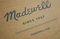 Madewell script logo design  #script #wordmark #logo