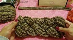 Diadema Trenzada A Crochet (Ganchillo) - YouTube