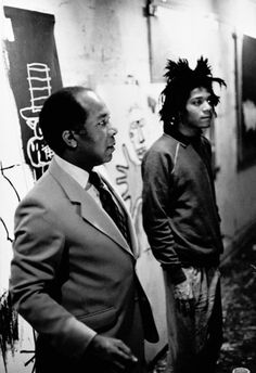 jean michel basquiat with his father♦️More Pins Like This At FOSTERGINGER @ Pinterest