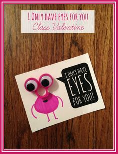 Tutus and Tea Parties: Kid Made Valentine | Googly Eye Ring Monster Valentine's Day Cards