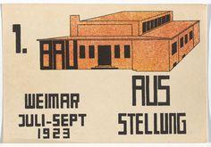 Paul Haberer - Bauhaus Ausstellung Weimar - 1923 - Lithograph - MoMA di New York Moma, Walter Gropius, Ludwig Mies Van Der Rohe, Wassily Kandinsky, Johannes Itten, School Exhibition, Architecture Events, Eye Candy, Berlin