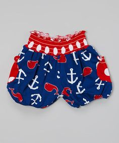 Loving this Blue Whales Tail Bubble Shorts - Infant, Toddler & Girls on #zulily! #zulilyfinds