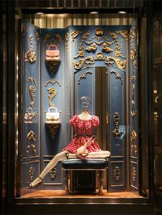 Miu Miu storefront window display - Ginza