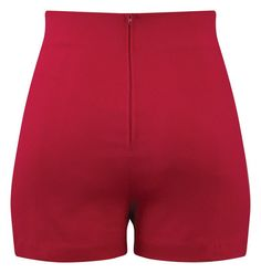 High waist red retro, pin up style shorts. Bengaline stretch fabrication, sailor button detail in front, and zip closure down back. Retro Shorts, Cute Shorts, Gypsy Style, My Style, Badass Outfit, Red High, Kpop Outfits, High Waisted Shorts, Short Skirts