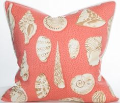 South Beach Collection - Voluta Pink Indoor Outdoor Pillow