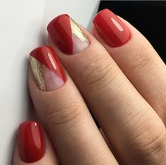 Classy Nail Designs, Red Nail Designs, Beautiful Nail Designs, Red Nail Art, Floral Nail Art, Red Nails, Nails Now, Latest Nail Art, Classy Nails