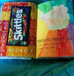 Wreck This Journal - Tongue Painting