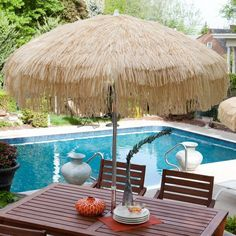 Aluminum Palapa Patio Umbrella   Create A Scene In The Backyard And Offer  Guests A Shady Spot To Rest At The Same Time With The DestinationGear Ft.