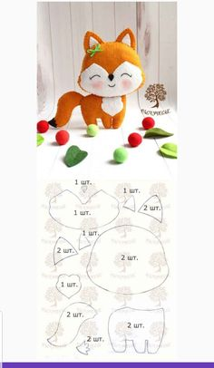 Spielzeug Mimo Arts: Free Christmas Molds, Buying Gently Used Ba Felt Animal Patterns, Felt Crafts Patterns, Felt Crafts Diy, Stuffed Animal Patterns, Clay Crafts, Felt Patterns Free, Felt Doll Patterns, Felt Fox, Bear Felt