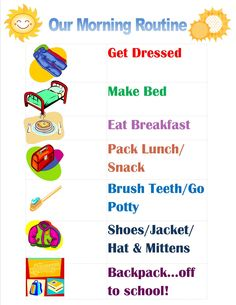 After some rough mornings I created this morning checklist for the kids