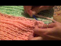 Sewing Knifty Knitter Panels Together