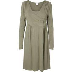 Mamalicious Rikko Tess Maternity Nursing Dress, Vetiver Green ($44) ❤ liked on Polyvore featuring maternity