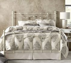 Shop our selection of stylish and traditional beds and bed frames at Pottery Barn. Design your bedroom oasis with expertly crafted beds in full, queen and king sizes. Bedroom Furniture, Home Furniture, Bedroom Decor, Pottery Barn, Twilight, Organic Duvet Covers, Design Your Bedroom, Bedroom Sets, Master Bedroom
