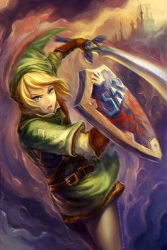 Link, Legend of Zelda, anime art