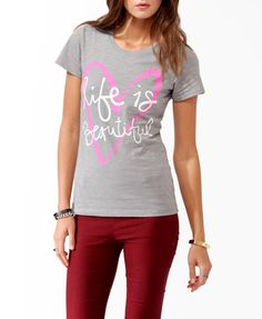Life Is Beautiful Tee | FOREVER21 - 2021840832