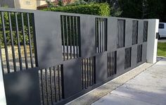 wrought iron fence modern - Google Search