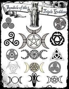 Symbols of the Triple Goddess