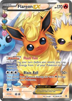 Flareon EX Pokemon Card, Ultra Rare Pokemon Cards From Pokemon TCG Generations. EX Pokemon Cards, Holo Pokemon Cards, Mint Condition Flareon Pokemon Cards. Full Art Pokemon Cards, Pokemon Cards For Sale, Rare Pokemon Cards, Pokemon Trading Card, Trading Cards, Pokemon Tcg Online, Mega Pokemon, Pokemon Fusion, Pokemon Party