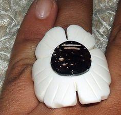 anel osso pintado