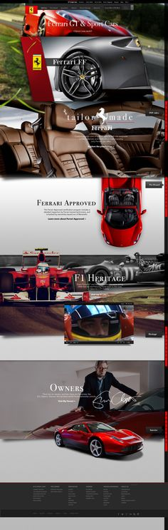 Cool Automotive Web Design on the Internet. Ferrari. #automotive #webdesign @ http://www.pinterest.com/alfredchong/automotive-web-design/