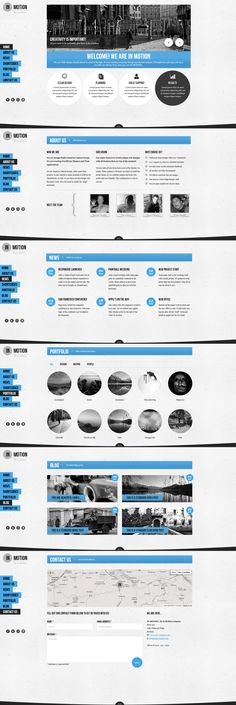 In Motion  |  Responsive, One-Page, Wordpress Template  |  themeforest  |  http://trendis.si/wp-themes/responsive/