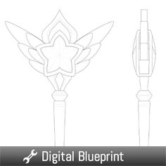 Star Guardian Lux Wand Blueprint - Vensy Props