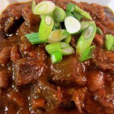 Pressure Cooker Beef Chili Allrecipes.com