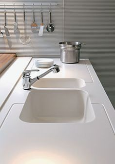 corian kitchen sinks seating 232 best bath images kitchens design moulded sink simple and very effective