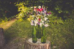 eco friendly flowers in bottles wedding http://helinebekker.co.uk/